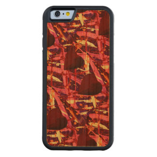 TWO HEARTS THAT BEAT AS ONE (red heart design) ~ Carved Cherry iPhone 6 Bumper Case