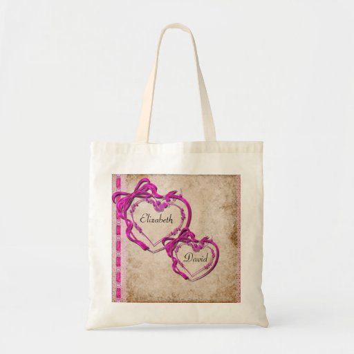 Two Hearts Together Canvas Bags