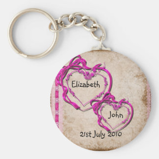 Two Hearts Together Keychain
