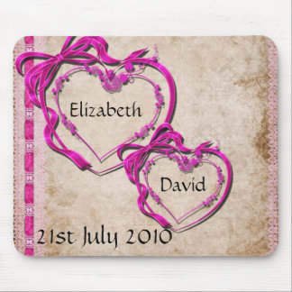Two Hearts Together Mouse Pad