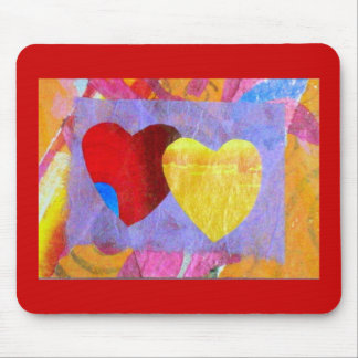Two Hearts Together Mousepad