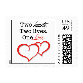Two Hearts, Two Lives, One Love - Hearts Stamp