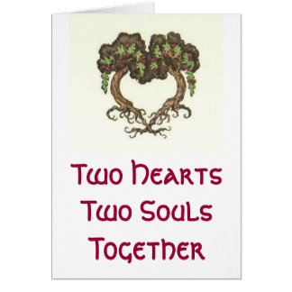 Two Hearts, Two Souls Greeting Card