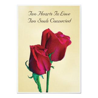 """Two Hearts Two Souls Invitation 4.5"""" X 6.25"""" Invitation Card"""