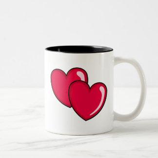 Two Hearts Two-Tone Coffee Mug