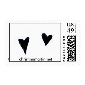 Two Hearts US Postage Stamp
