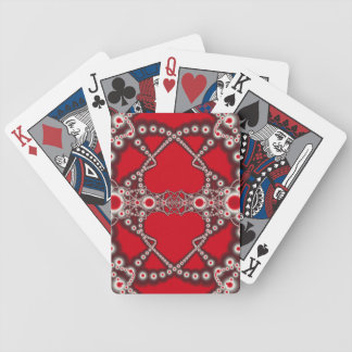 Two Hearts Valentine Fractal Bicycle Playing Cards