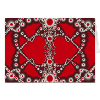 Two Hearts Valentine Fractal Card