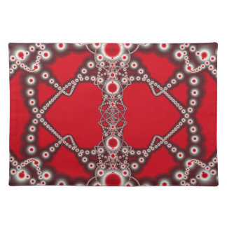 Two Hearts Valentine Fractal Cloth Placemat