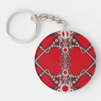 Two Hearts Valentine Fractal Keychain