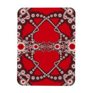 Two Hearts Valentine Fractal Magnet