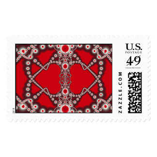 Two Hearts Valentine Fractal Postage Stamp