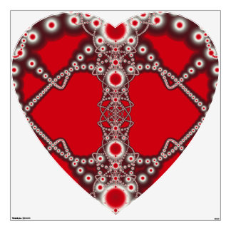 Two Hearts Valentine Fractal Wall Decal
