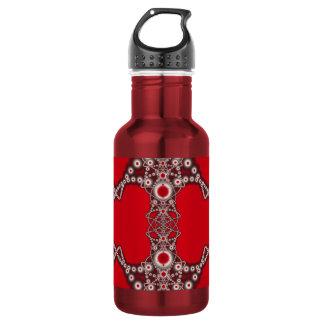 Two Hearts Valentine Fractal Water Bottle