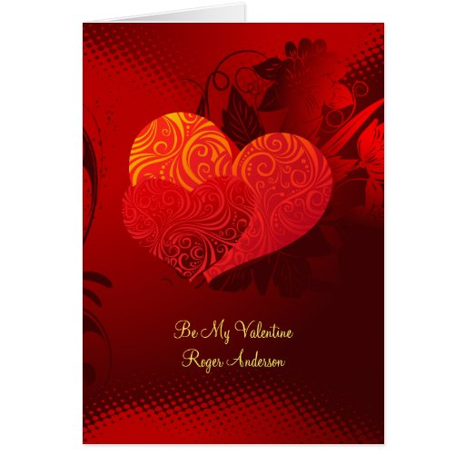 Two Hearts Valentine Greeting Card