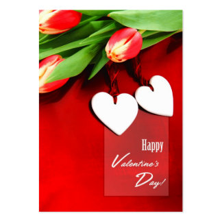 Two Hearts. Valentine's Day Gift Tag Large Business Card