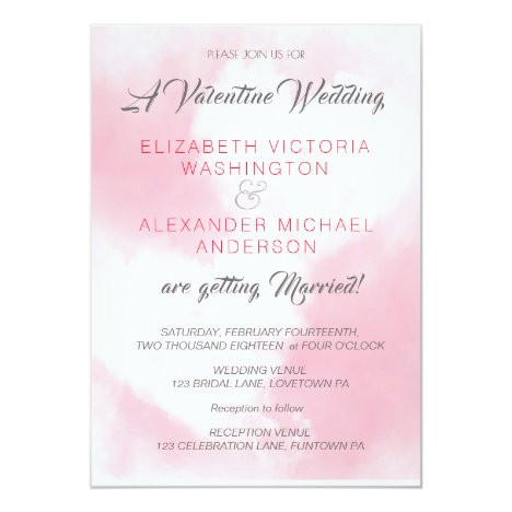 Two Hearts/Valentines Theme/ Wedding Invitation