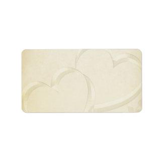 Two Hearts Wedding Address Label