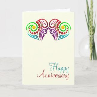 Two Hearts Wedding Anniversary Card