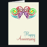 """Two Hearts Wedding Anniversary Card<br><div class=""""desc"""">Stunning and modern two hearts collection .. ideal for a gay / lesbian wedding anniversary and civil ceremony . gay themed cards by Ricaso</div>"""