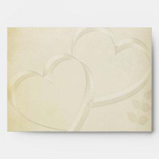 Two Hearts Wedding Envelope