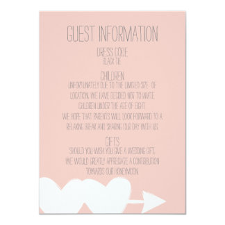 Two Hearts Wedding Guest Information Card
