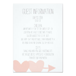 Two Hearts Wedding Guest Information Card (white)
