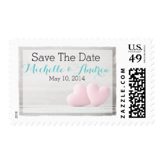 Two Hearts Wedding Invites/Save The Date Postage