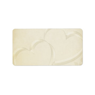 Two Hearts Wedding Label