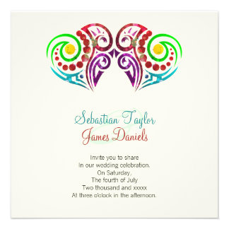 Two Hearts Wedding Personalized Announcement