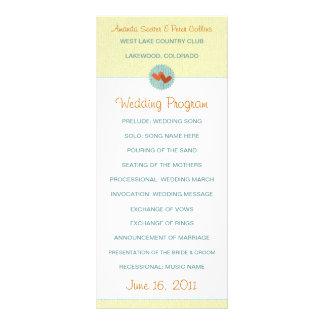 Two Hearts Wedding Programs Rack Card Template