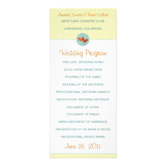 Two Hearts Wedding Programs Rack Card Design
