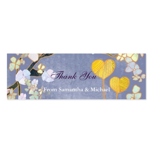 Two Hearts: Wedding Thank-You Gift Tags Business Card Template