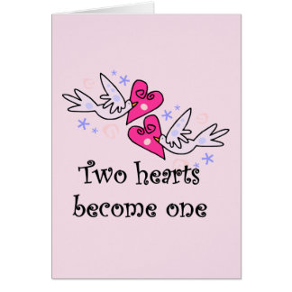 Two Hearts Wedding Tshirts and Gifts Card