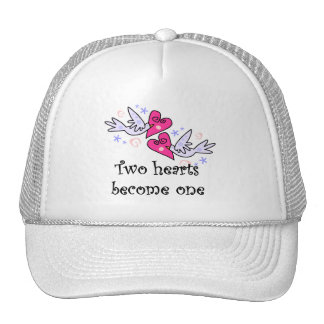 Two Hearts Wedding Tshirts and Gifts Trucker Hats