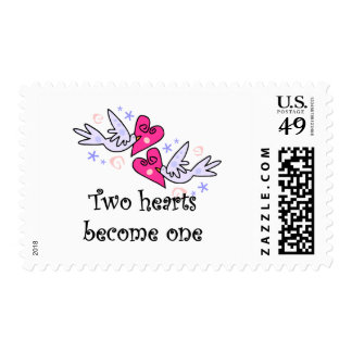 Two Hearts Wedding Tshirts and Gifts Postage Stamps