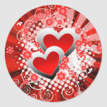 Two hearts with florals stickers