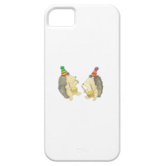Two Hedgehogs play the Drums. iPhone 5 Cover