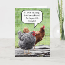 Two Hens Happy Birthday Humor Card