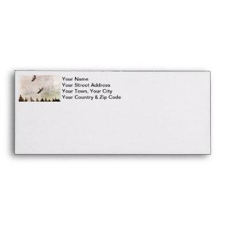 Two Herons Flying Photo Envelope