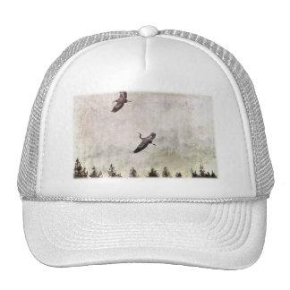 Two Herons Flying Photo Hats