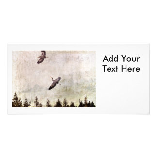 Two Herons Flying Photo Customized Photo Card