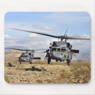 Two HH-60 Pavehawk helicopters preparing to lan Mouse Pad