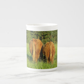 Two Highland Cattle Rears in Upper Austria Tea Cup