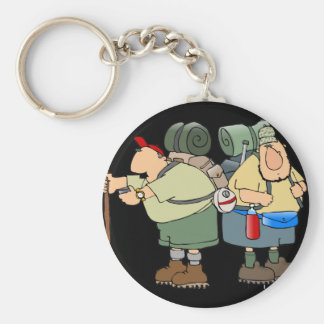 Two Hikers Keychain