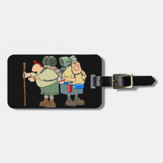 Two Hikers Luggage Tags
