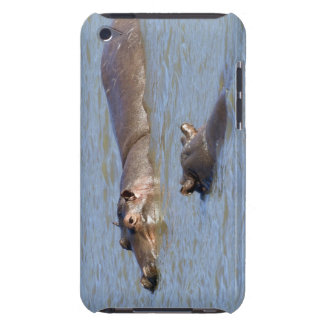 Two hippos in a river, Kruger National Park, iPod Touch Case
