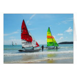 Two Hobies returning to shore Greeting Card