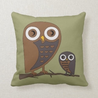 Two Hooters Throw Pillow