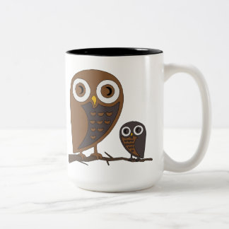 Two Hooters Two-Tone Coffee Mug
